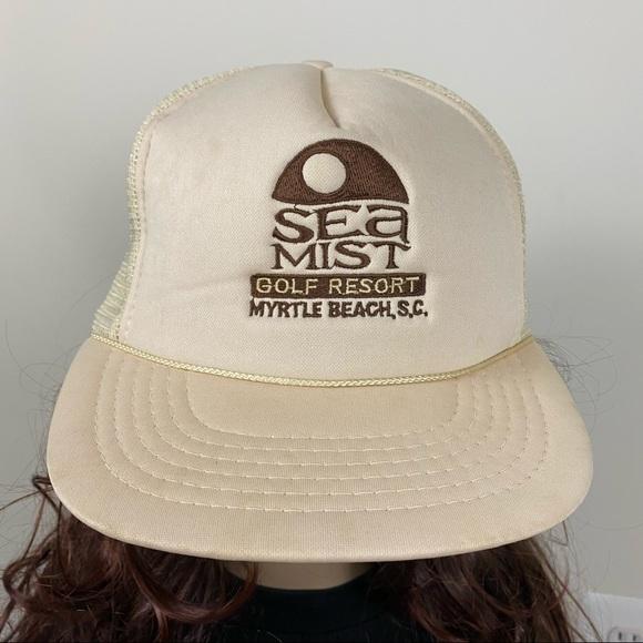 Vintage Myrtle Beach Mesh Trucker Strapback Hat